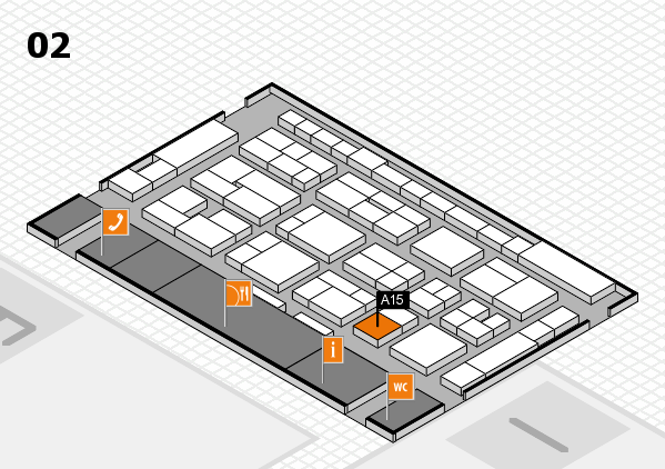 MEDICA 2016 hall map (Hall 2): stand A15