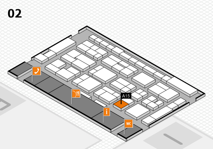 MEDICA 2016 hall map (Hall 2): stand A15