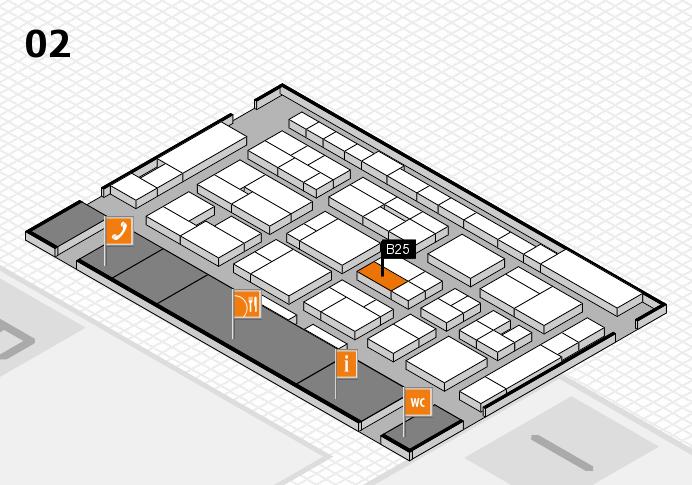 MEDICA 2016 Hallenplan (Halle 2): Stand B25