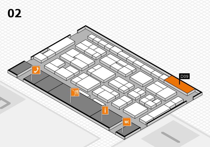 MEDICA 2016 hall map (Hall 2): stand D09