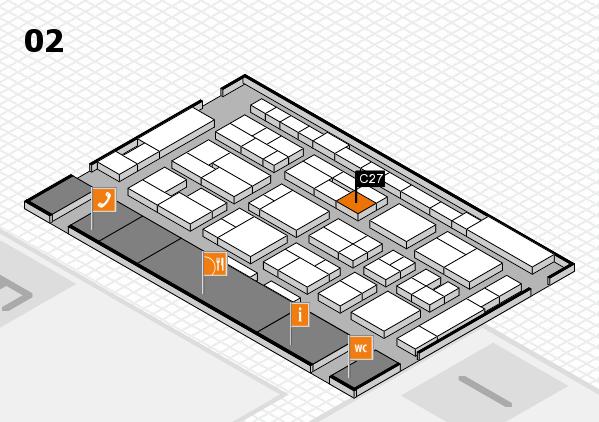 MEDICA 2016 Hallenplan (Halle 2): Stand C27