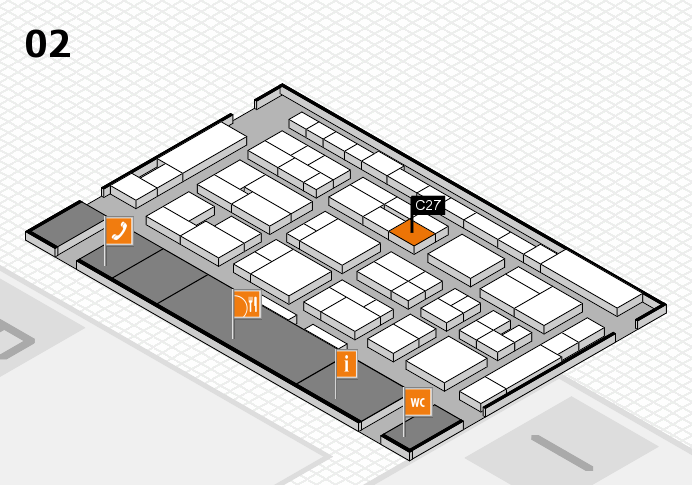 MEDICA 2016 hall map (Hall 2): stand C27