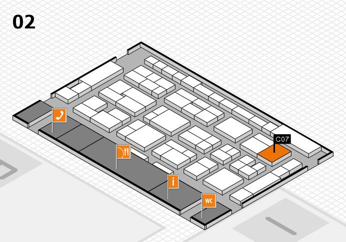 MEDICA 2016 hall map (Hall 2): stand C07