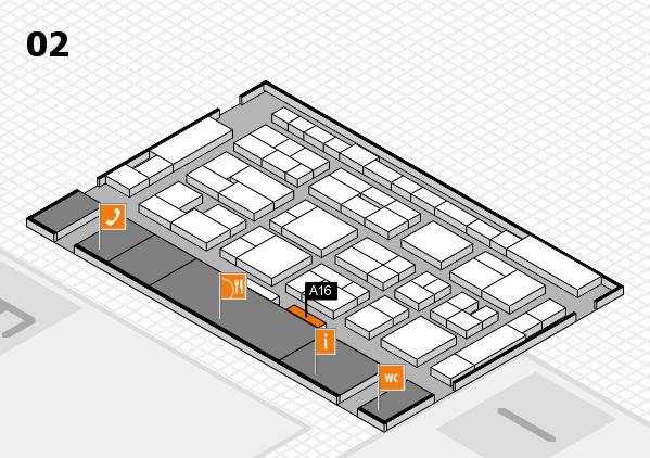 MEDICA 2016 hall map (Hall 2): stand A16
