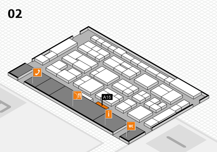 MEDICA 2016 hall map (Hall 2): stand A16