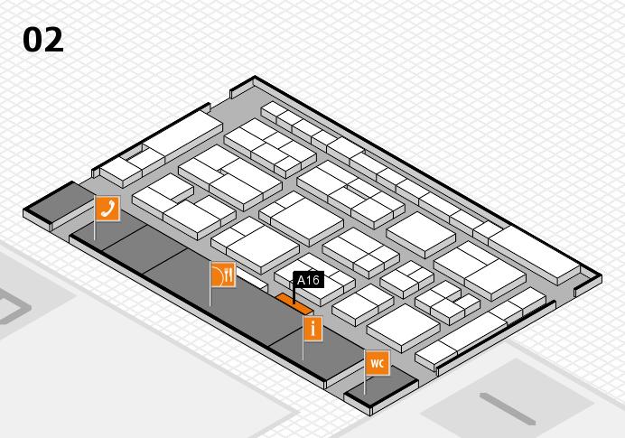 MEDICA 2016 Hallenplan (Halle 2): Stand A16