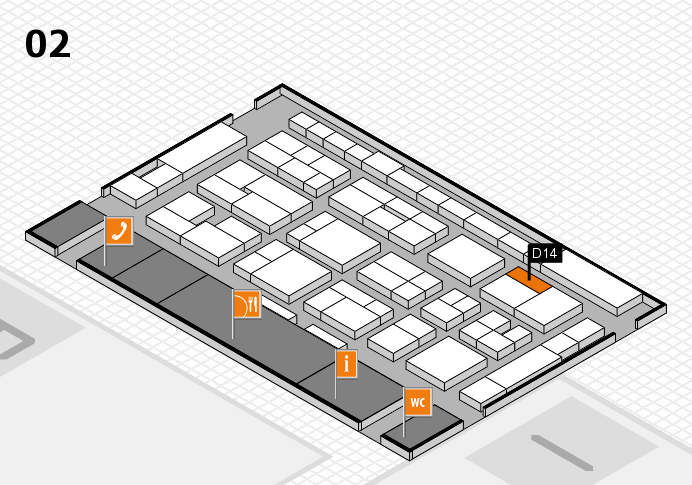 MEDICA 2016 hall map (Hall 2): stand D14