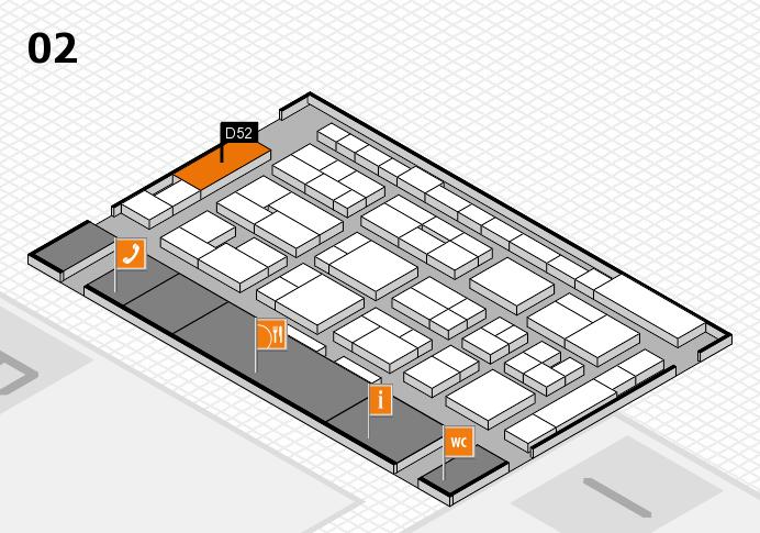 MEDICA 2016 Hallenplan (Halle 2): Stand D52
