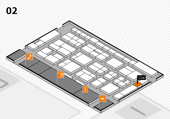 MEDICA 2016 hall map (Hall 2): stand C04