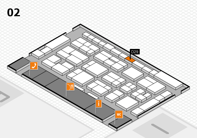 MEDICA 2016 hall map (Hall 2): stand D29