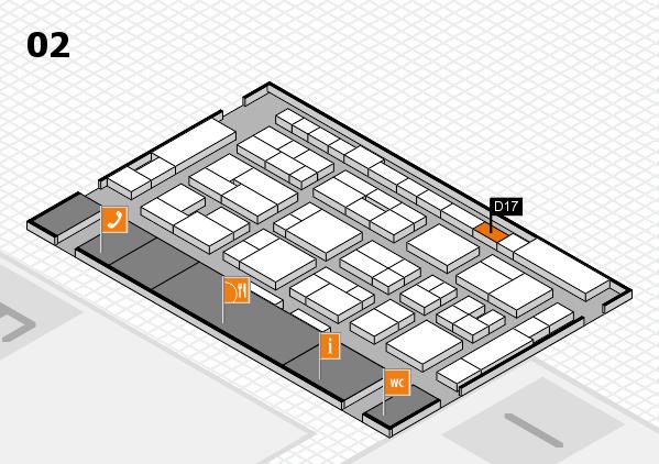 MEDICA 2016 Hallenplan (Halle 2): Stand D17