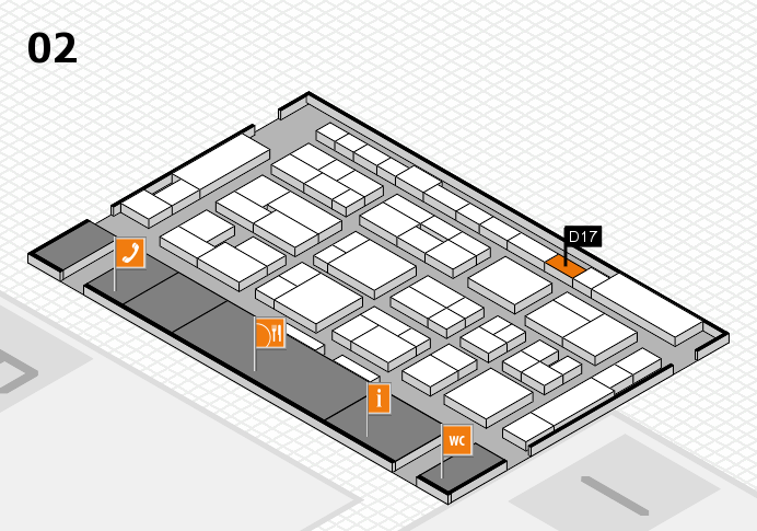 MEDICA 2016 hall map (Hall 2): stand D17