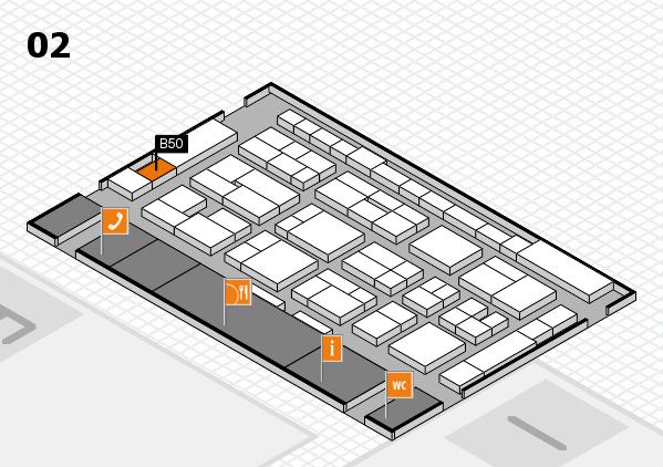 MEDICA 2016 hall map (Hall 2): stand B50