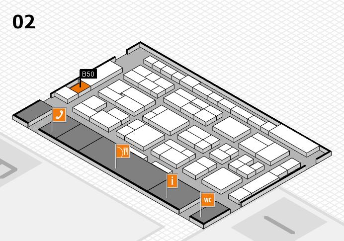 MEDICA 2016 Hallenplan (Halle 2): Stand B50
