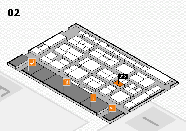 MEDICA 2016 Hallenplan (Halle 2): Stand B15