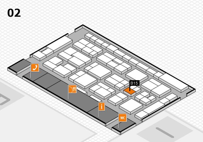 MEDICA 2016 hall map (Hall 2): stand B15