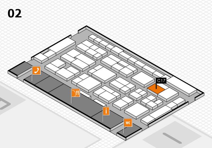 MEDICA 2016 Hallenplan (Halle 2): Stand C17