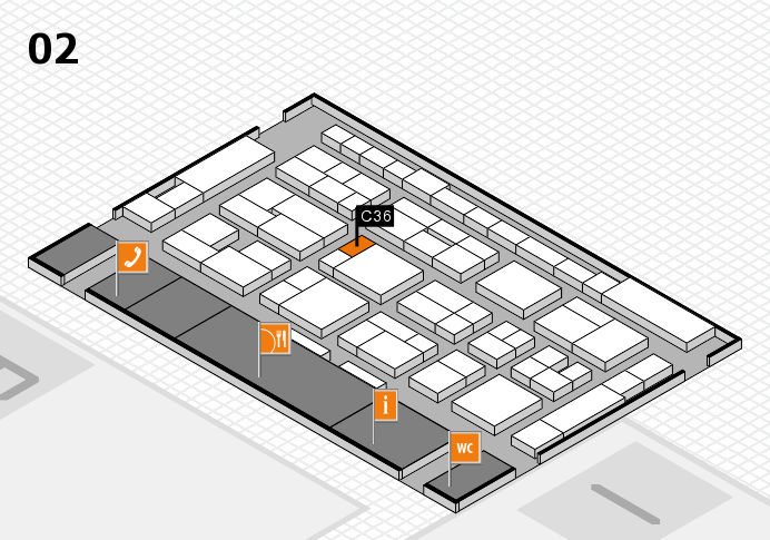 MEDICA 2016 hall map (Hall 2): stand C36