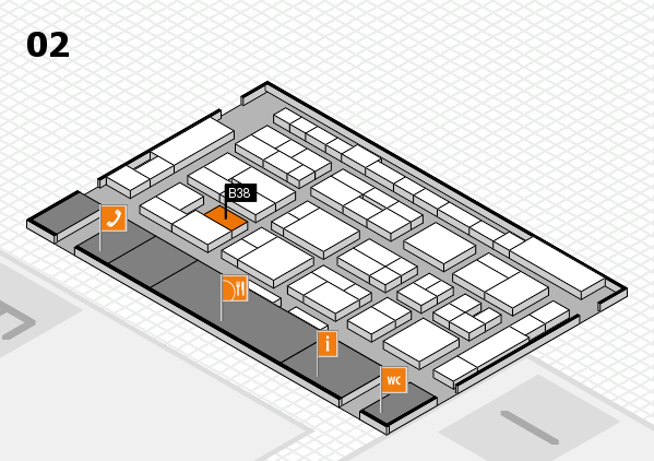 MEDICA 2016 Hallenplan (Halle 2): Stand B38