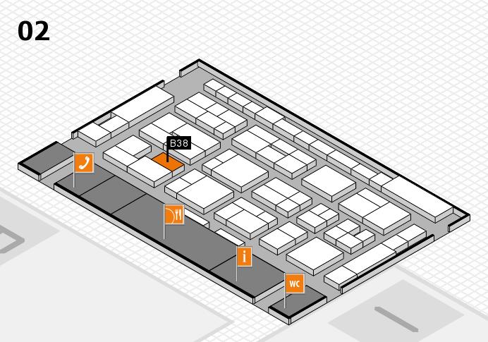 MEDICA 2016 hall map (Hall 2): stand B38