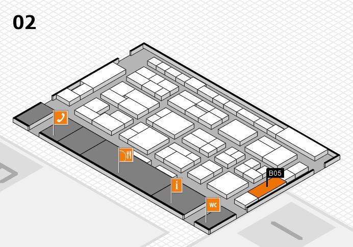 MEDICA 2016 hall map (Hall 2): stand B05