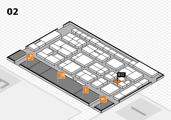MEDICA 2016 hall map (Hall 2): stand B13