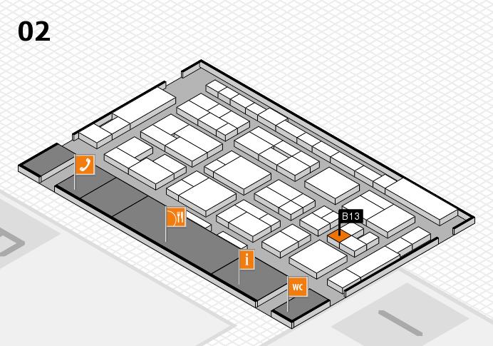 MEDICA 2016 Hallenplan (Halle 2): Stand B13