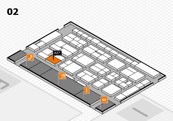 MEDICA 2016 hall map (Hall 2): stand A37