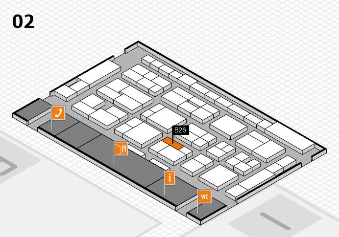MEDICA 2016 hall map (Hall 2): stand B26