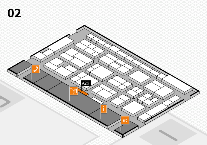 MEDICA 2016 hall map (Hall 2): stand A26