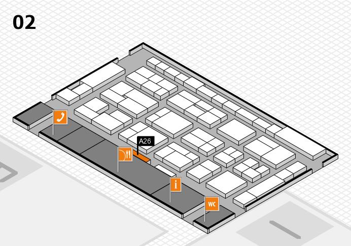 MEDICA 2016 Hallenplan (Halle 2): Stand A26