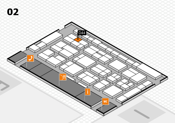 MEDICA 2016 hall map (Hall 2): stand D44