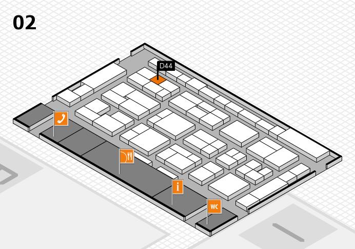 MEDICA 2016 hall map (Hall 2): stand D44