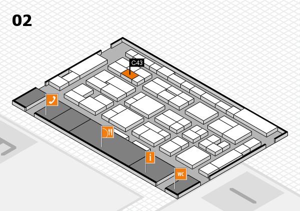 MEDICA 2016 Hallenplan (Halle 2): Stand C43