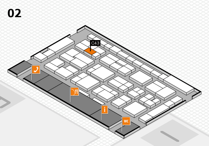 MEDICA 2016 hall map (Hall 2): stand C43