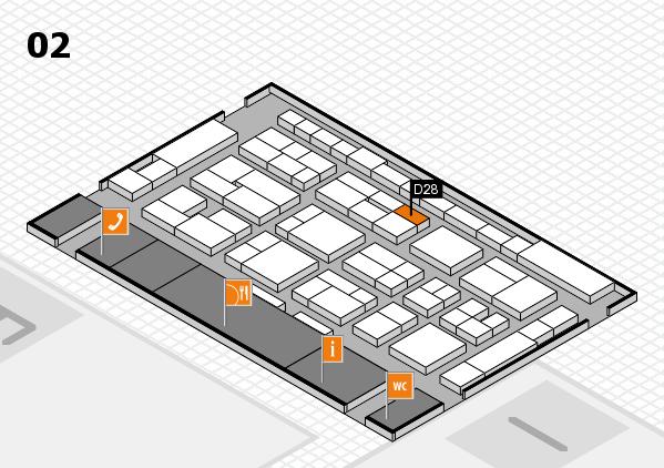 MEDICA 2016 hall map (Hall 2): stand D28