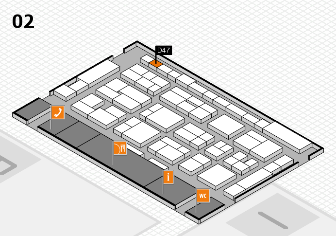 MEDICA 2016 hall map (Hall 2): stand D47