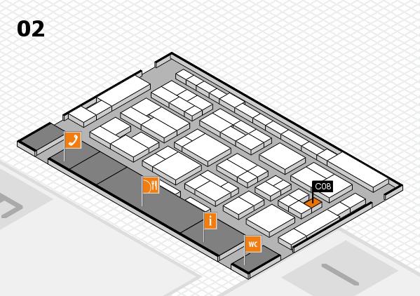 MEDICA 2016 hall map (Hall 2): stand C08