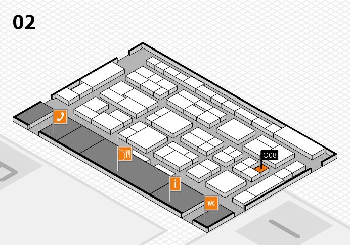 MEDICA 2016 Hallenplan (Halle 2): Stand C08
