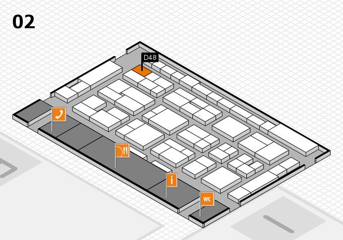 MEDICA 2016 hall map (Hall 2): stand D48