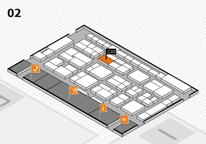 MEDICA 2016 hall map (Hall 2): stand C35