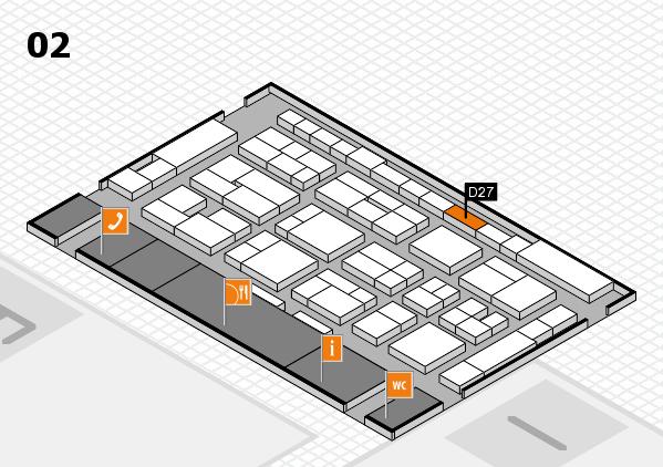 MEDICA 2016 hall map (Hall 2): stand D27