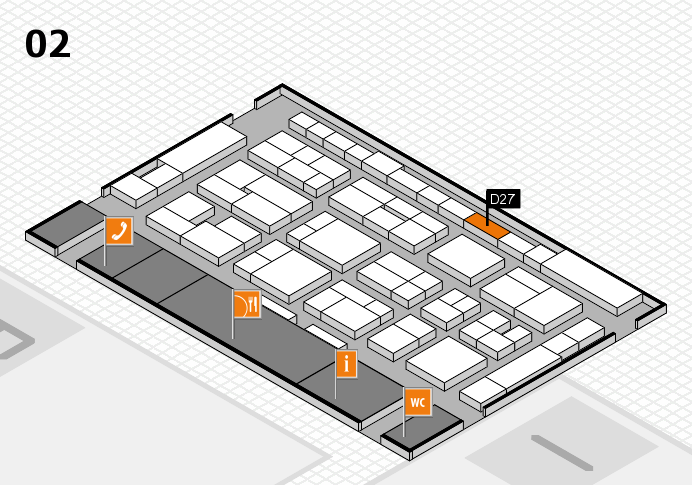 MEDICA 2016 hall map (Hall 2): stand D27