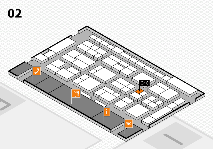 MEDICA 2016 Hallenplan (Halle 2): Stand C18