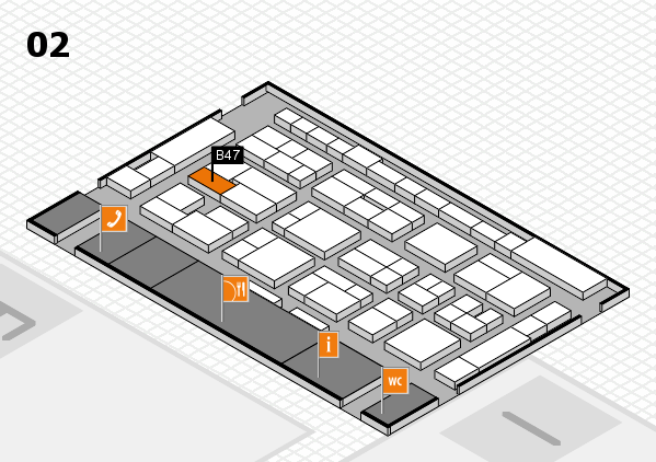 MEDICA 2016 Hallenplan (Halle 2): Stand B47