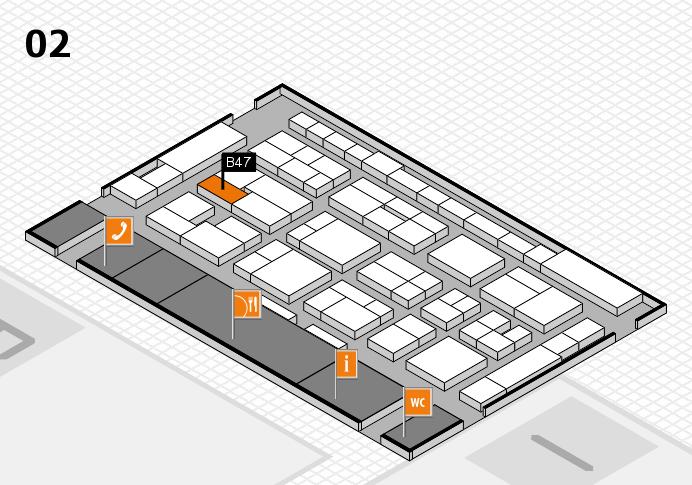 MEDICA 2016 hall map (Hall 2): stand B47