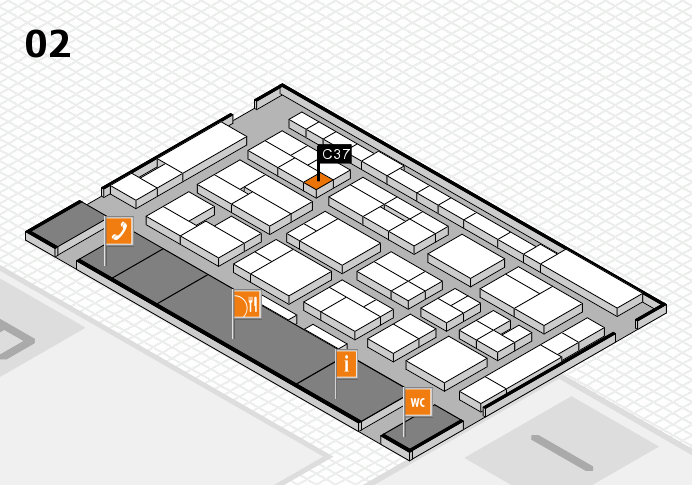 MEDICA 2016 hall map (Hall 2): stand C37