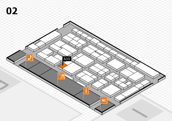 MEDICA 2016 hall map (Hall 2): stand A35
