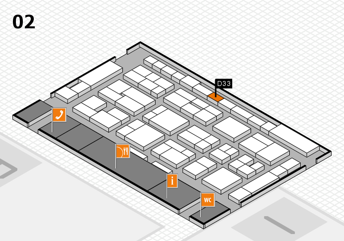 MEDICA 2016 hall map (Hall 2): stand D33