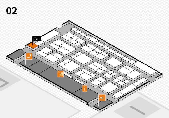 MEDICA 2016 Hallenplan (Halle 2): Stand A49
